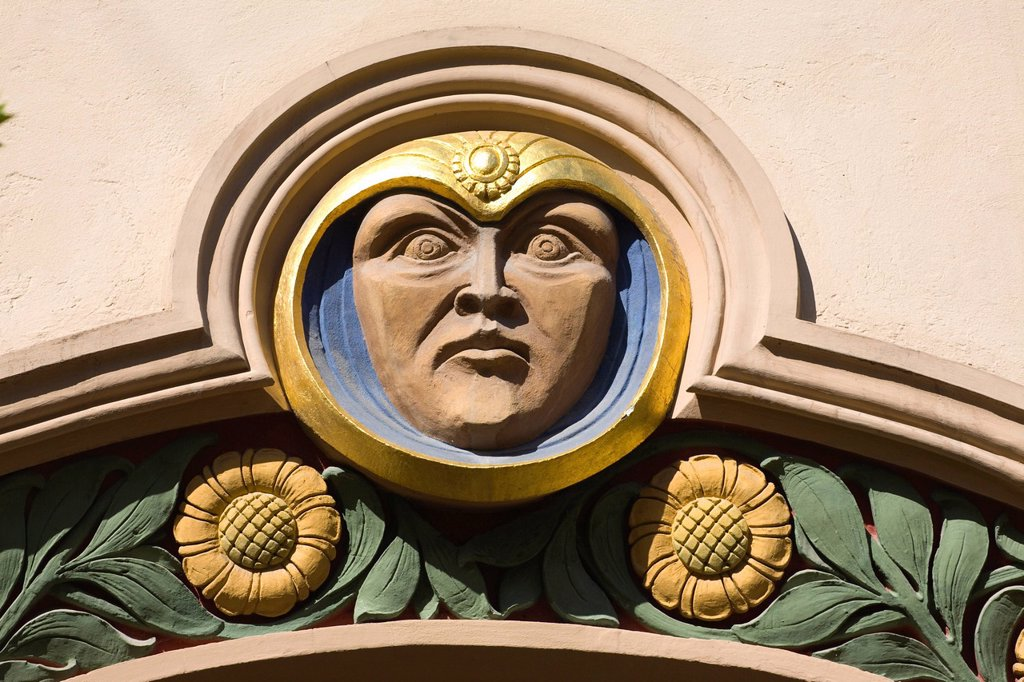 Art nouveau house in the district of Schwabing_West, Munich, Bavaria, Germany, Europe : Stock Photo