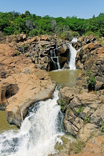 Waterfall in Lowveld National Botanical Garden, Nelspruit, Mpumalanga, South Africa, Africa : Stock Photo