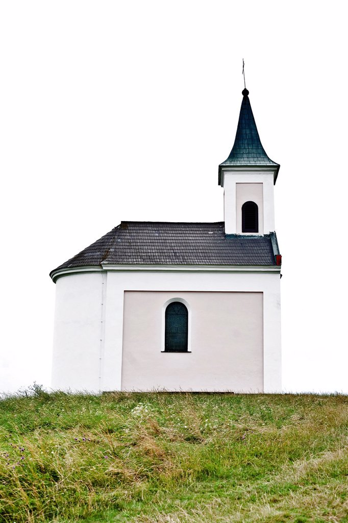 Chapel on Michelsberg hill, Weinviertel region, Lower Austria, Austria, Europe : Stock Photo