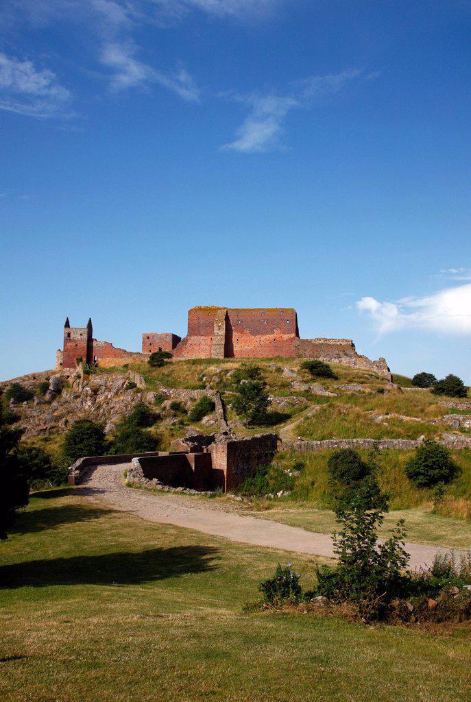 Stock Photo: 1848-608976 Hammershus castle ruins, Bornholm, Denmark, Europe