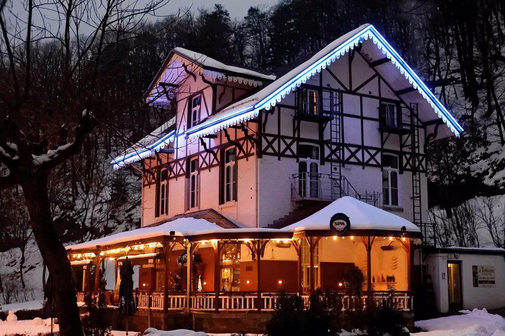 Stock Photo: 1848-609517 La Tonnellerie Restaurant and Hotel, Parc de Sept Heures spa gardens, health spa, Ardennes region, Liège province, Wallonia region, Belgium, Benelux, Europe