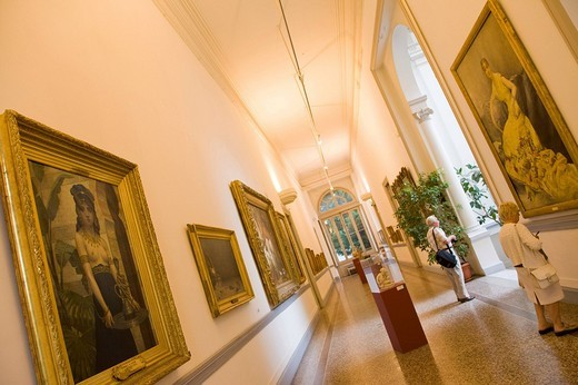 Paintings in the Musée des Beaux_Arts museum, art museum, Nice, Cote d´Azur, France : Stock Photo