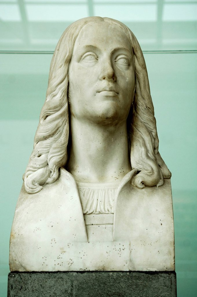 Stock Photo: 1848-609868 Marble bust of Raphael, sculptor Johann Christian Lotsch, 1790_1873, Germanic National Museum, Kartaeusergasse 1, Nuremberg, Middle Franconia, Bavaria, Germany, Europe
