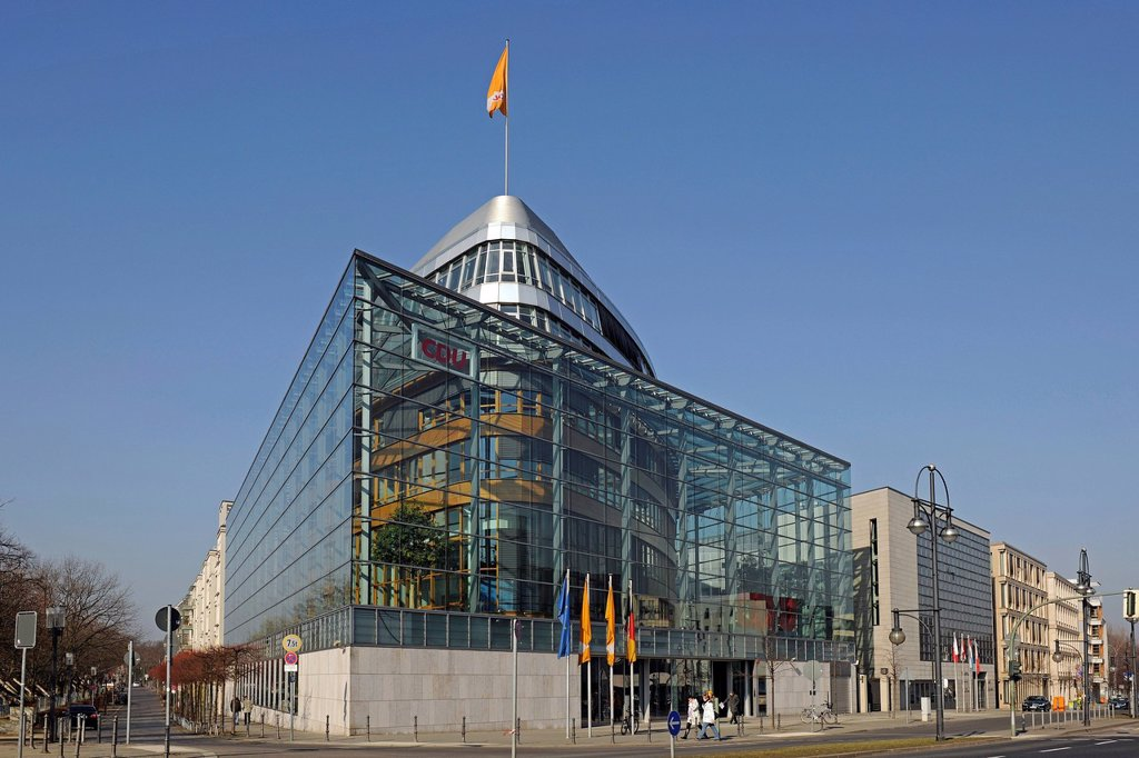 Party headquarters of the CDU in Berlin, Konrad_Adenauer_Haus, Germany, Europe : Stock Photo