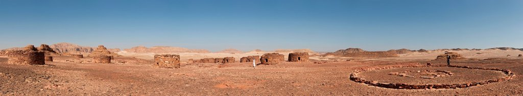 Moses Village near the White Canyon, panorama, Sinai, Egypt, North Africa : Stock Photo