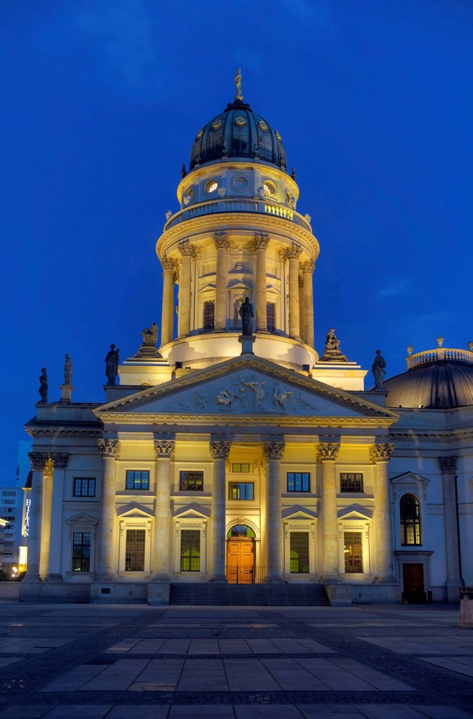 Stock Photo: 1848-610667 German Cathedral, Gendarmenmarkt, Friedrichstadt, Berlin, Germany, Europe