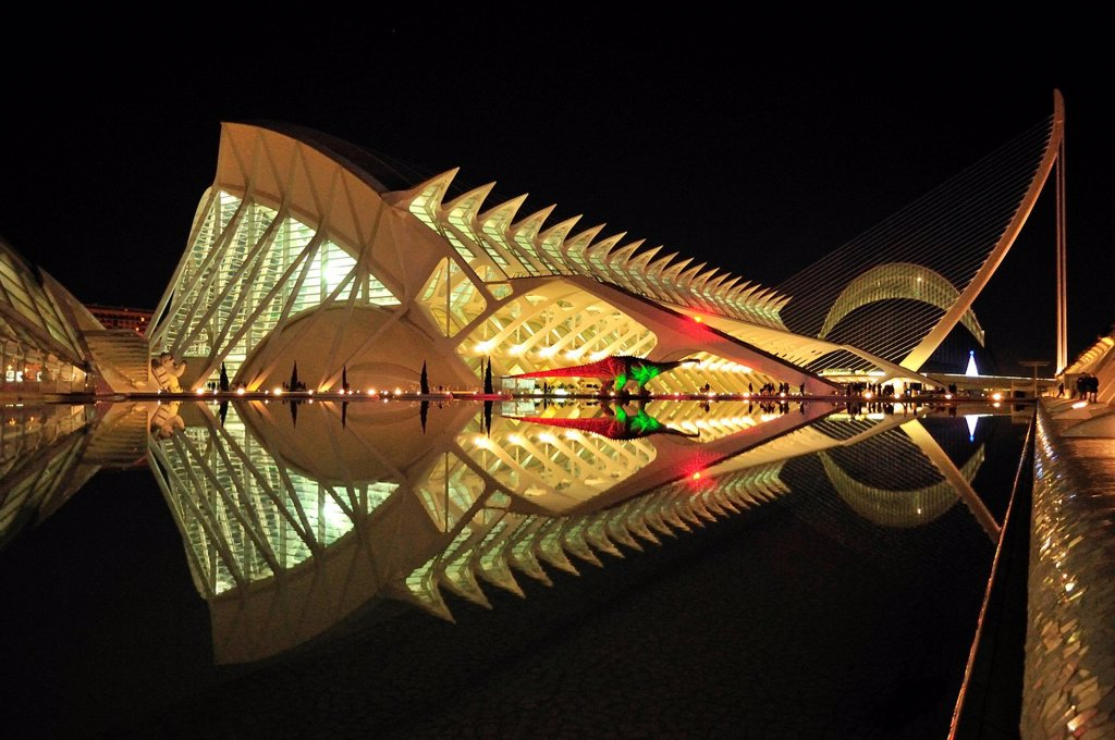 Stock Photo: 1848-611209 Museo de las Ciencias Principe Filipe in the Ciudad de las Artes y las Ciencias, City of Arts and Sciences, designed by Spanish architect Santiago Calatrava, Valencia, Comunidad Valenciana, Spain, Europe