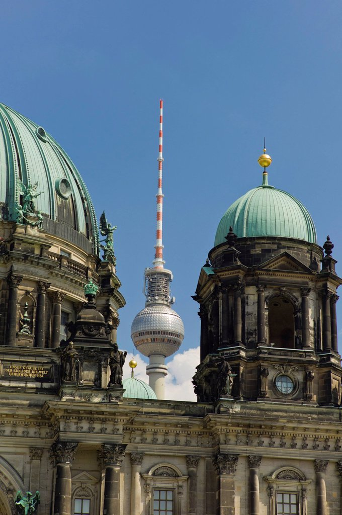 Stock Photo: 1848-611222 Berliner Dom, protestant parish church and cathedral, Museumsinsel, UNESCO World Heritage Site, Berlin, Germany, Europe
