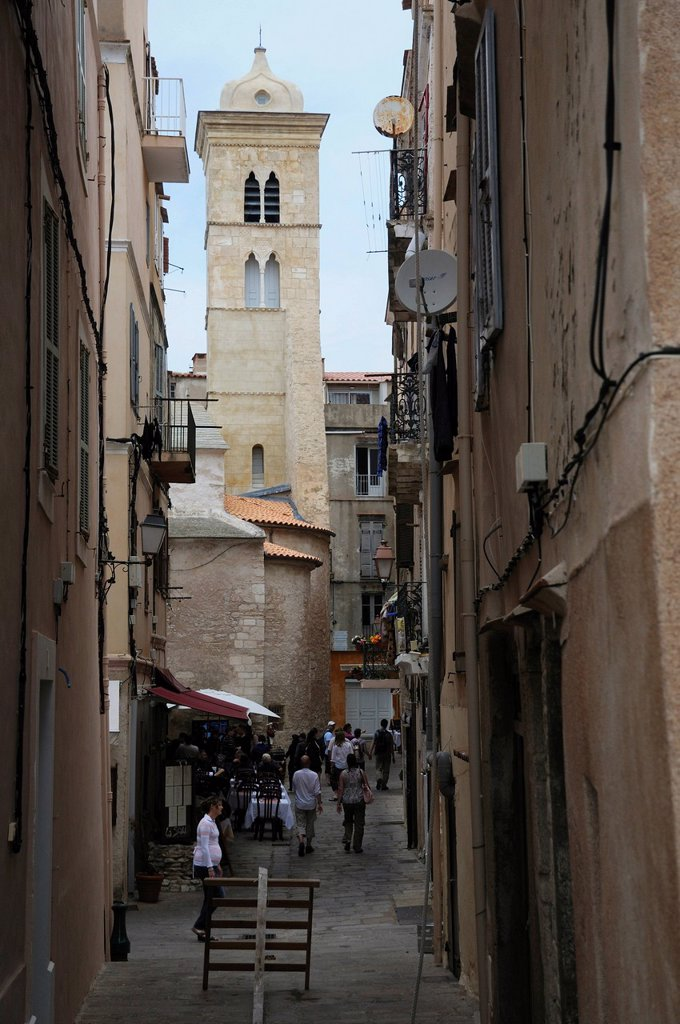 Stock Photo: 1848-611291 Alley in Bonifacio, Bunifaziu, Corsica, France, Europe