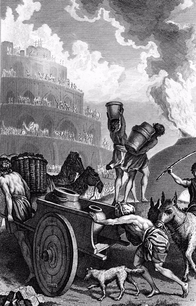 Stock Photo: 1848-613144 The Tower of Babel, biblical scene, historical illustration, 1872