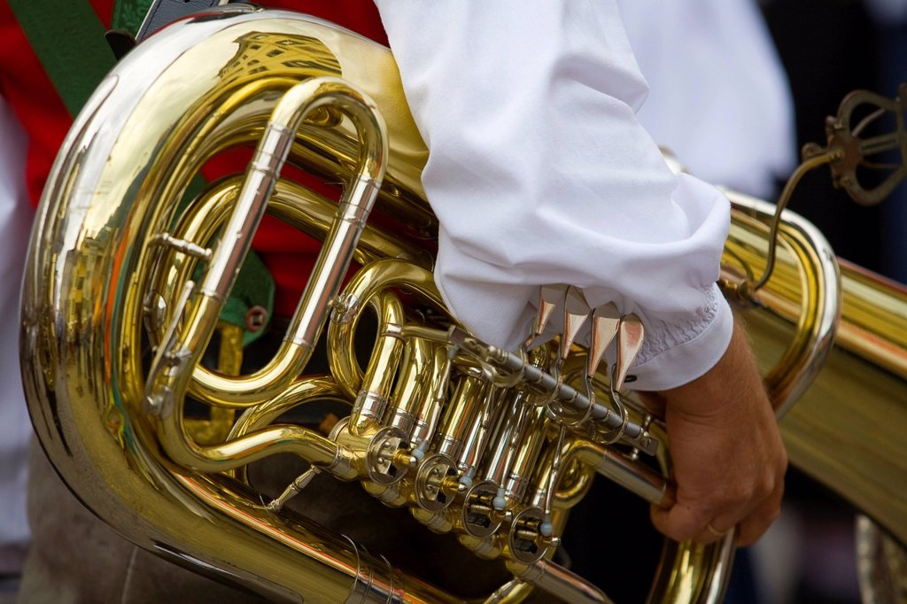 Stock Photo: 1848-614448 Tuba, musical instrument, province of Bolzano_Bozen, Italy, Europe