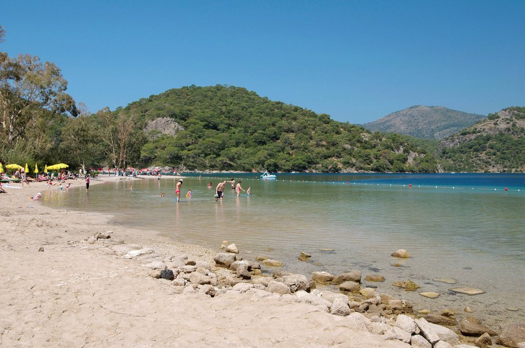 Beach, Fethiye, Mu&287,la Province, Turkey : Stock Photo