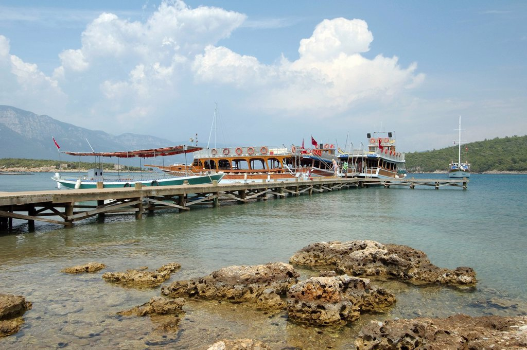 Cleopatra beach, Cleopatra island, Aegean Sea, Turkey : Stock Photo