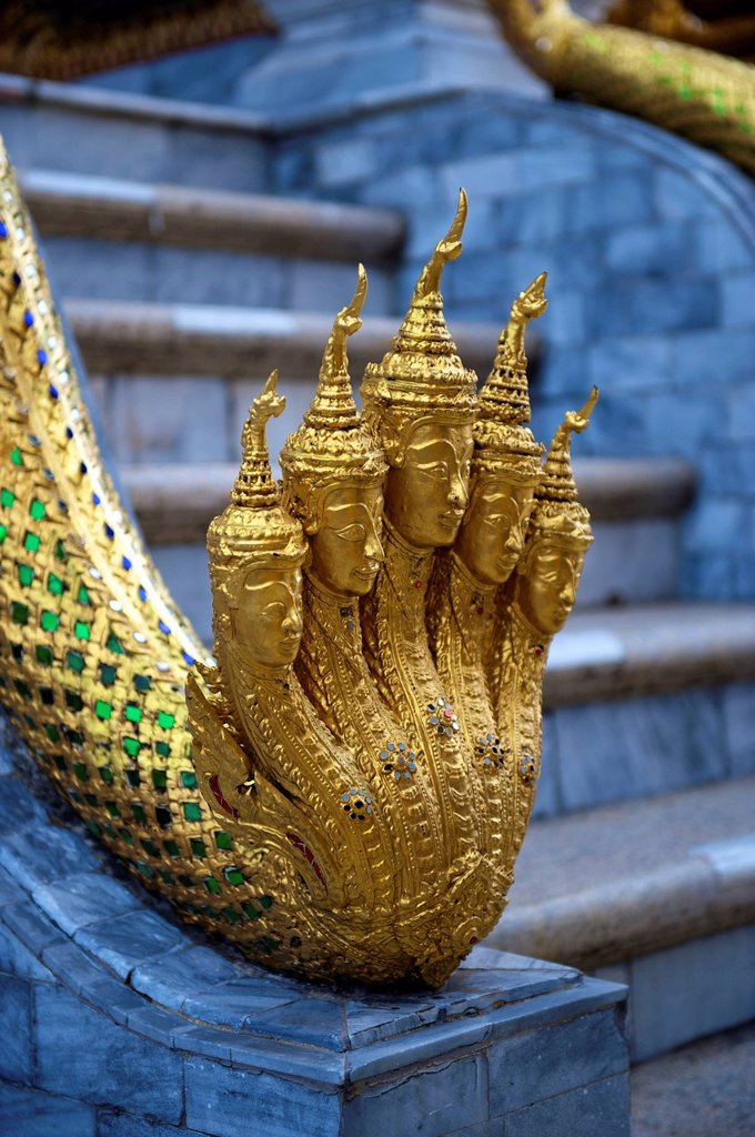 Stock Photo: 1848-614983 Detail of a sculpture, Phra Mondop, Wat Pho, Wat Phra Chetuphon, Temple of the Reclining Buddha, Bangkok, Thailand, Asia