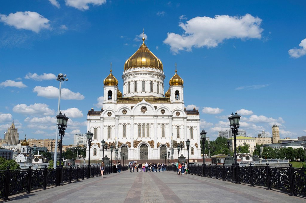 Stock Photo: 1848-615323 Cathedral of Christ the Saviour, Moscow, Russia, Eurasia