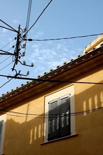 Stock Photo: 1848-61593 Power lines, Alcudia, Majorca, Spain
