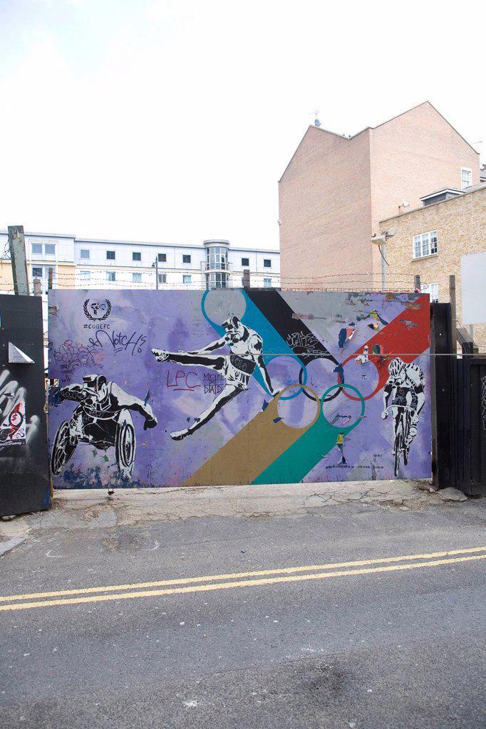 Stock Photo: 1848-616131 Graffiti by Code FC, the 2012 Olympics, Paralympics, London, England, United Kingdom, Europe, PublicGround