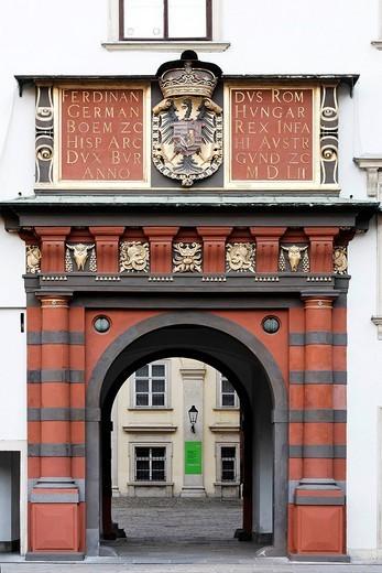 Stock Photo: 1848-61694 Historic Schweizertor, Swiss doorway, ancient Hofburg, Vienna, Austria