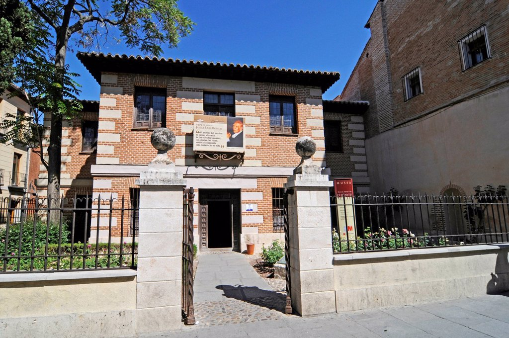 Birthplace of poet Miguel de Cervantes, museum, Alcala de Henares, Spain, Europe : Stock Photo