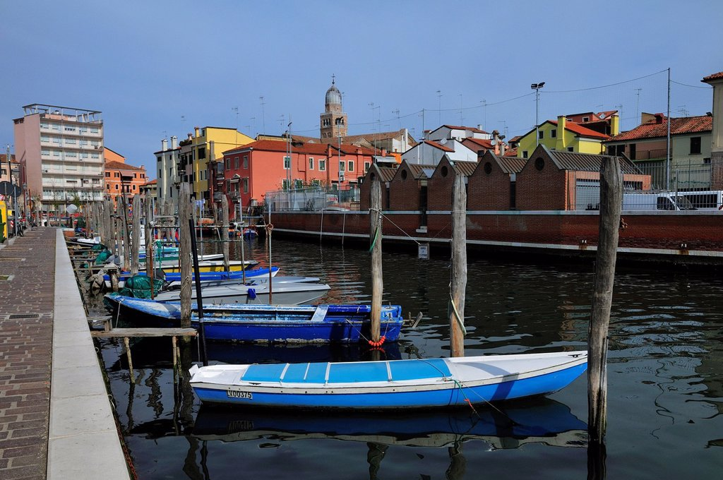 Stock Photo: 1848-618696 Boats, channel, Chioggia, Veneto, Italy, Europe