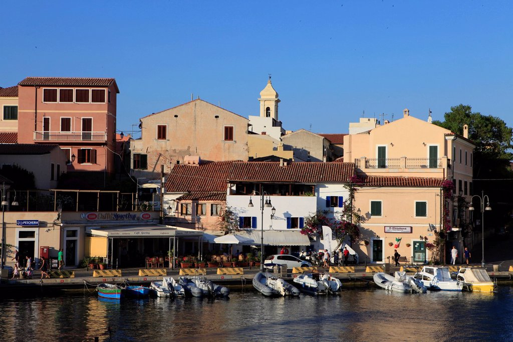 Stock Photo: 1848-619019 Harbour and town of La Maddalena, Parco Nazionale dell ´Archipelago di La Maddalena, Archipelago of La Maddalena National Park, Sardinia, Italy, Europe