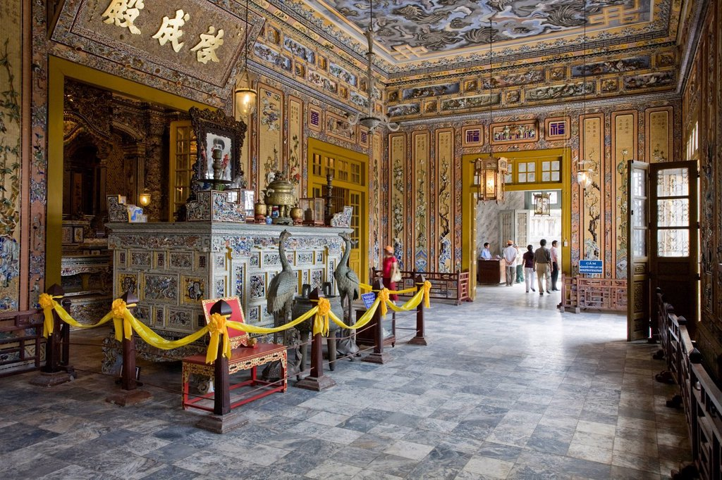 Grave of Emperor Khai Dinh, Hue, Vietnam, Southeast Asia, Asia : Stock Photo