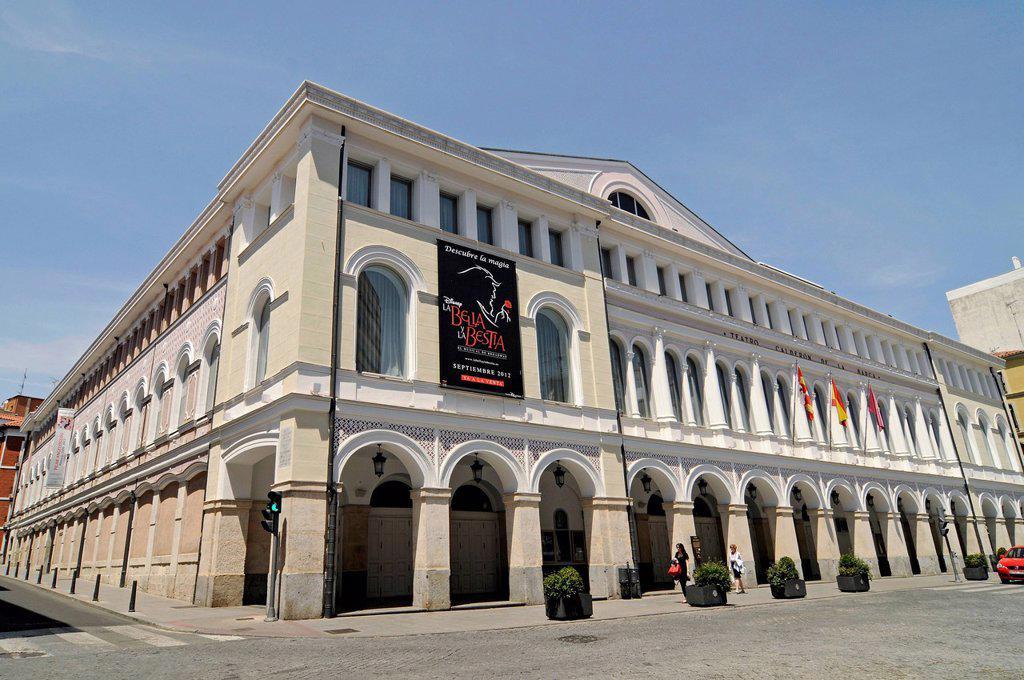 Stock Photo: 1848-621916 Teatro Calderón, Calderon Theatre, Valladolid, Castile and León, Spain, Europe, PublicGround