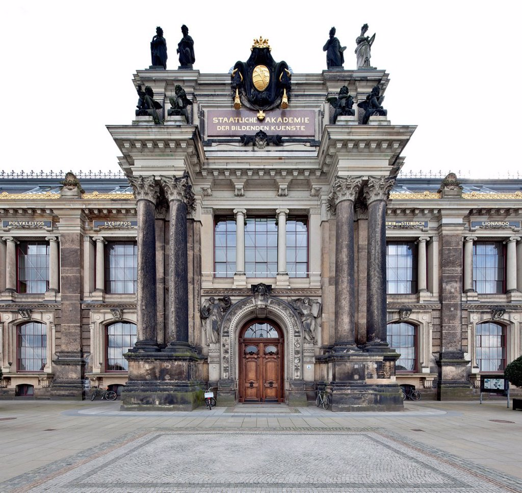 Stock Photo: 1848-622172 Academy of Fine Arts, former Royal Academy of Fine Arts, Dresden, Saxony, Germany, Europe, PublicGround