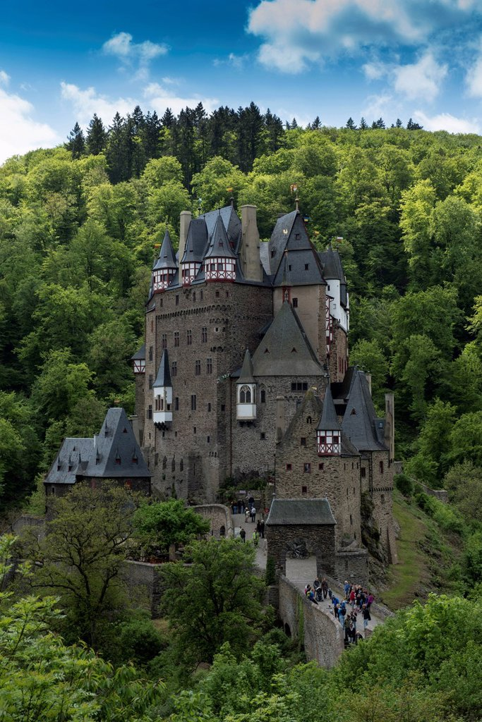 Burg Eltz Castle, hilltop castle, 12th Century, Wierschem, Eifel, Rhineland_Palatinate, Germany, Europe : Stock Photo