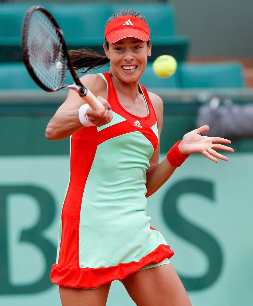 Stock Photo: 1848-624073 Ana Ivanovic, SRB, French Open 2012, ITF Grand Slam tennis tournament, Roland Garros, Paris, France, Europe