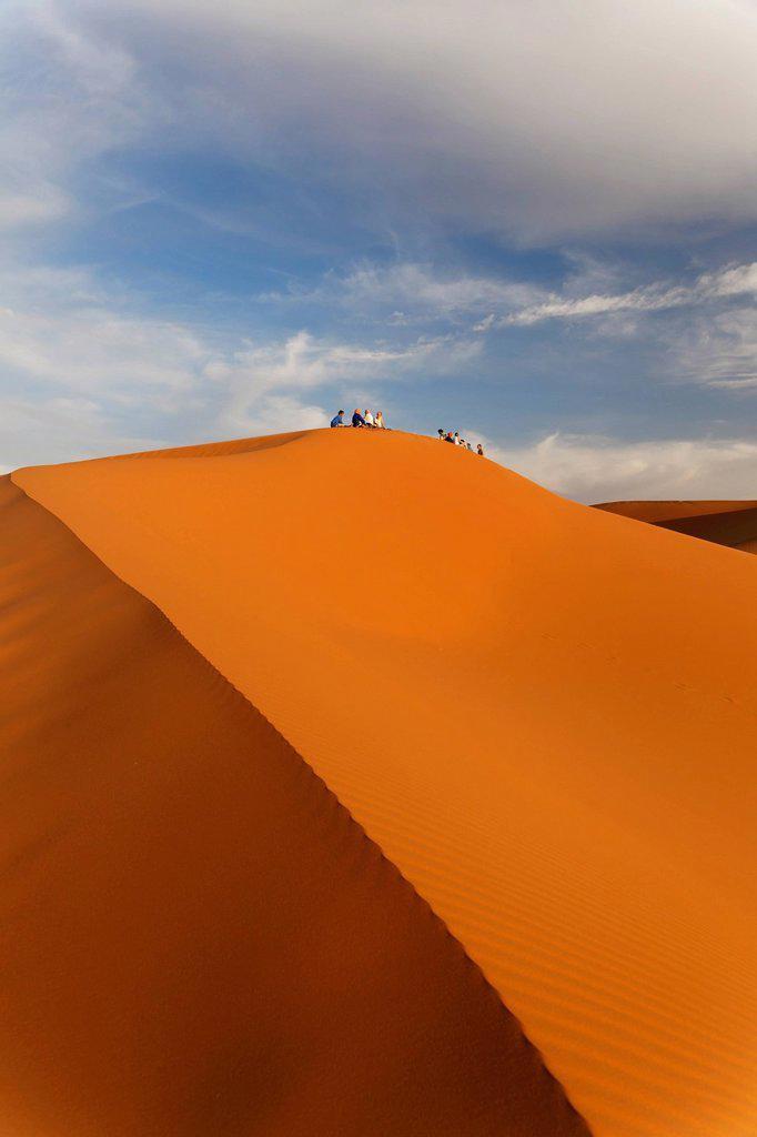 Stock Photo: 1848-624196 Sand dunes of Erg Chebbi, Erfoud, Meknès_Tafilalet, Morocco, Sahara, Maghreb, North Africa, Africa