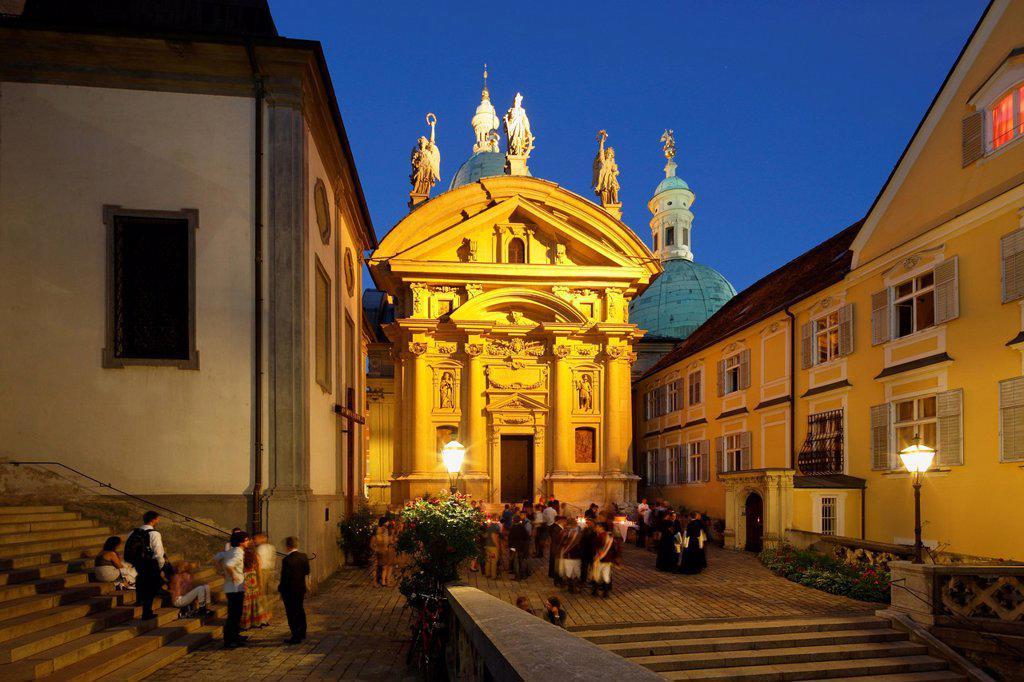 Mausoleum of Emperor Ferdinand II, Graz, Styria, Austria, Europe, PublicGround : Stock Photo