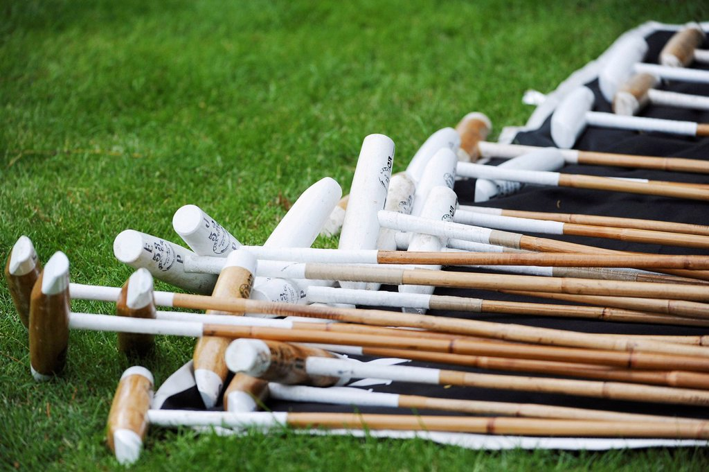 Stock Photo: 1848-624945 A pile of polo mallets, Ebreichsdorf, Lower Austria, Austria, Europe