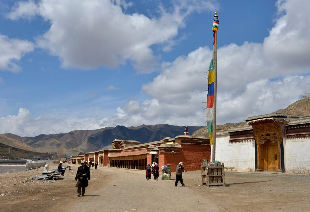 Tibetan Buddhism, Labrang Monastery, Xiahe, Gansu, formerly Amdo, Tibet, China, Asia : Stock Photo