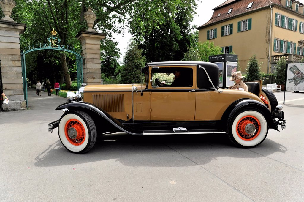 Stock Photo: 1848-625888 Buick Series 64 C Country Club Coupe, built in 1930, classic car, Retro Classics meets Barock classic car festival, Ludwigsburg, Baden_Wuerttemberg, Germany, Europe