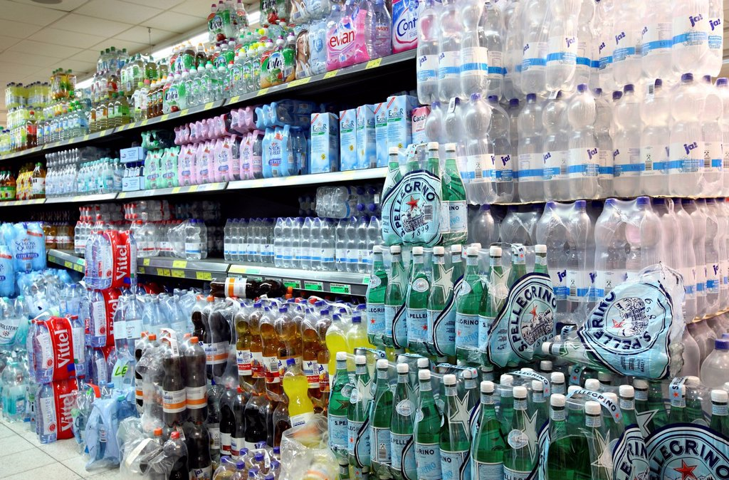 Stock Photo: 1848-626446 Beverage section, self_service, food department, supermarket, Germany, Europe