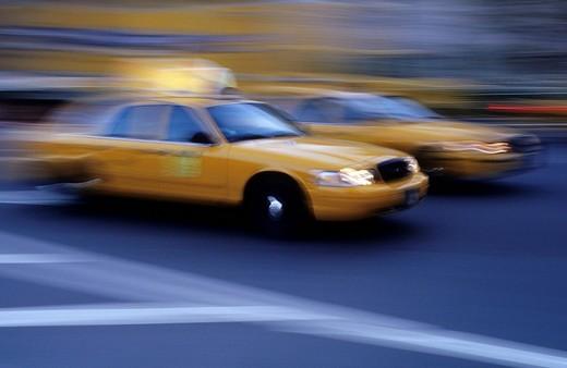 Taxis, Manhattan, New York City, USA : Stock Photo
