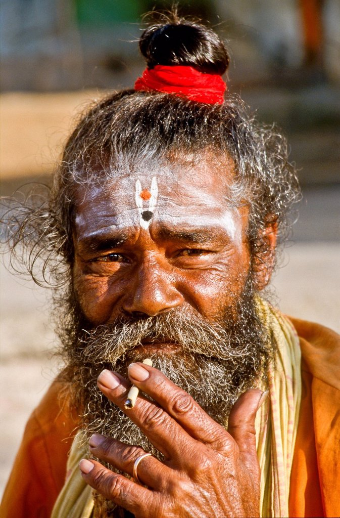 Stock Photo: 1848-628245 Portrait of a Sadhu, holy man, Mt. Abu, India, Asia