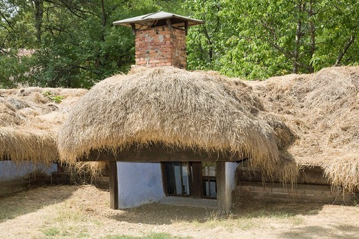 Stock Photo: 1848-62930 Farm house from the 19th century in the Bucharest village museum, Muzeul National Al Satului Dimitrie Gusti, Bucharest, Romania