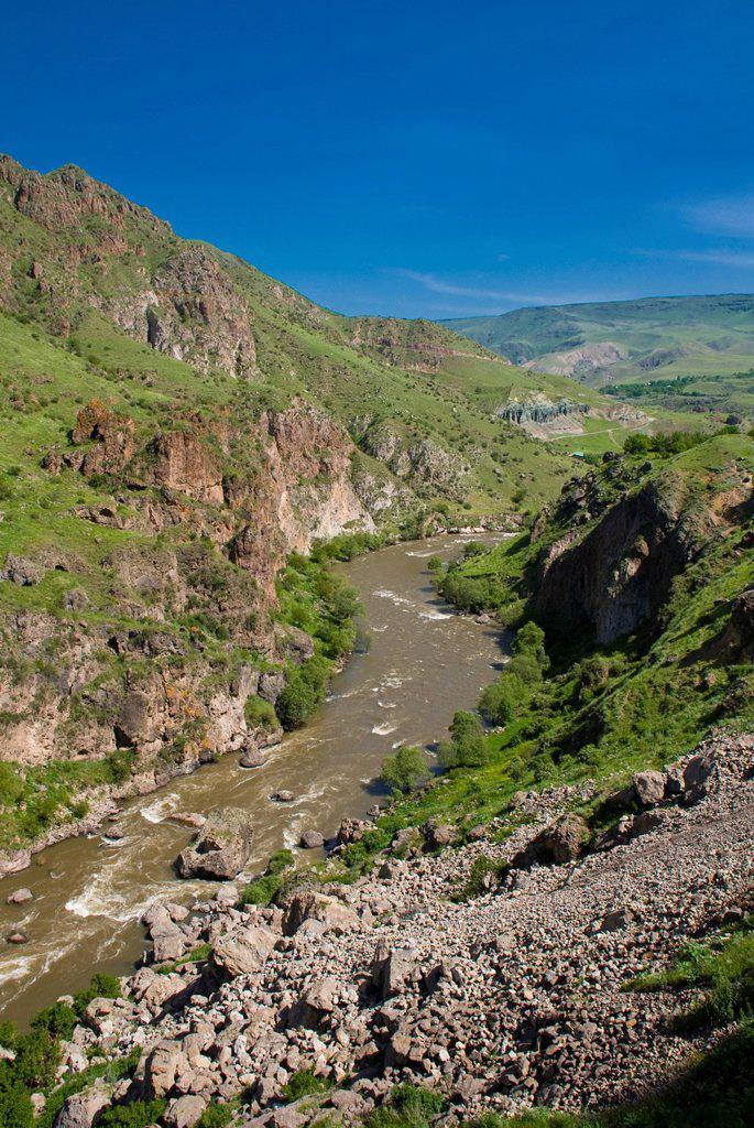 Cave city of Vardzia, Georgia, Caucasus region, Middle East : Stock Photo