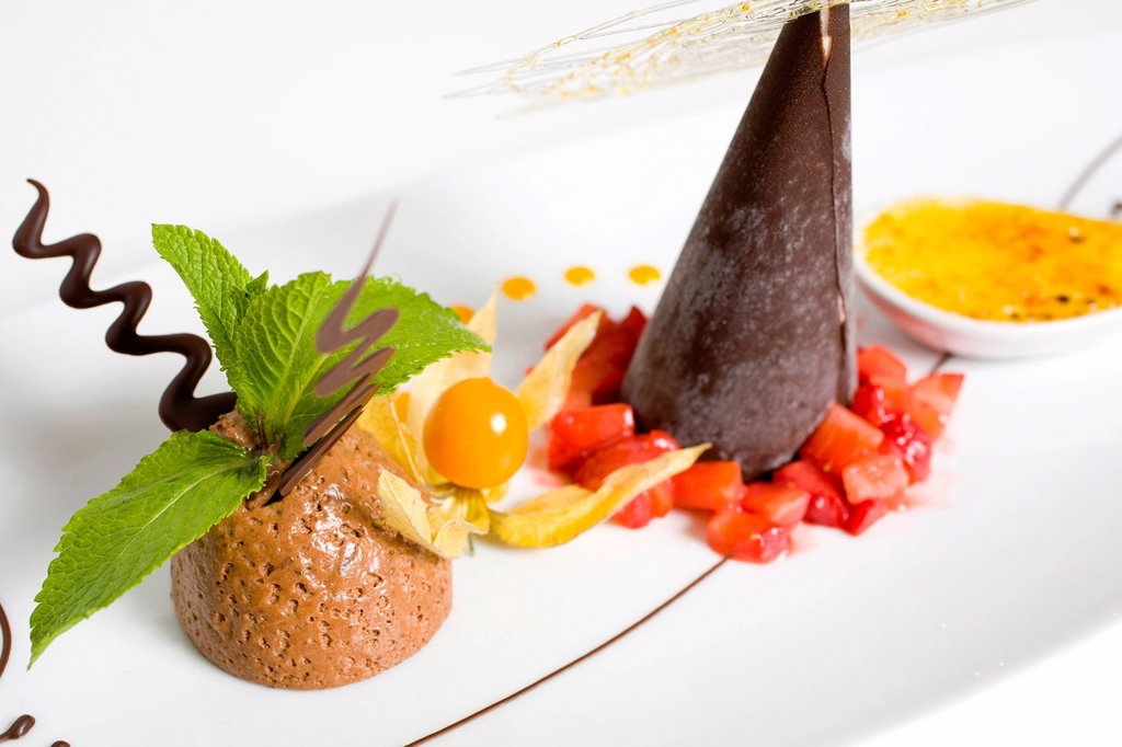 Stock Photo: 1848-629691 Chocolate dessert