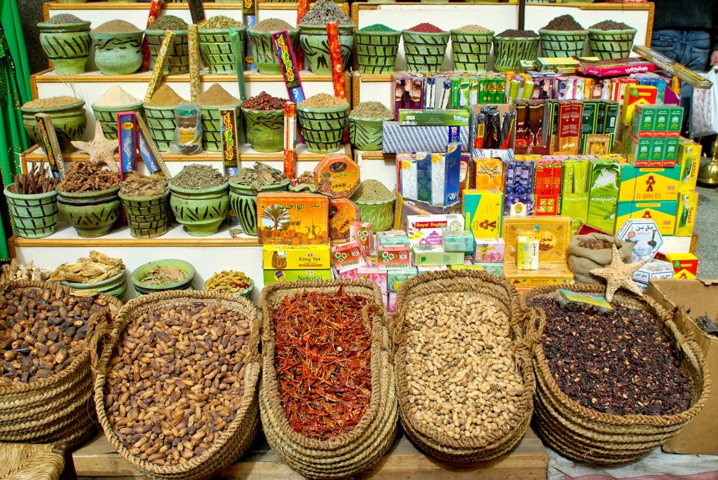 Stock Photo: 1848-629928 Spices in the bazaar of Cairo, Egypt, Africa