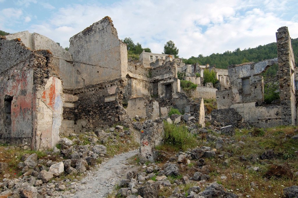 Stock Photo: 1848-630052 Greek ghost town of Levissi, Karmylassos, Kayakoey, Turkey