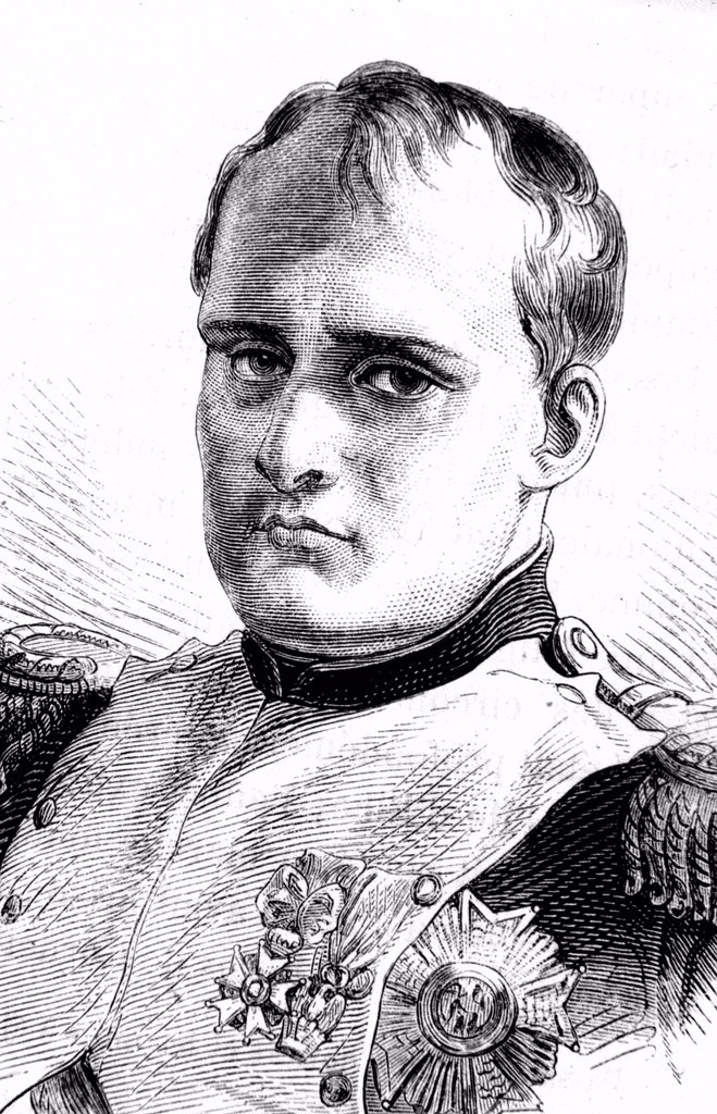 Napoleon Bonaparte, historical illustration, 1860 : Stock Photo