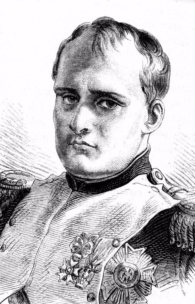 Stock Photo: 1848-630190 Napoleon Bonaparte, historical illustration, 1860