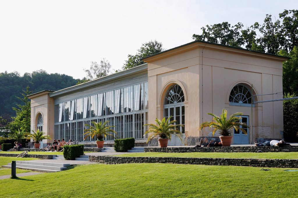 Stock Photo: 1848-630946 Orangery at Burggarten, castle gardens, Graz, Styria, Austria, Europe, PublicGround