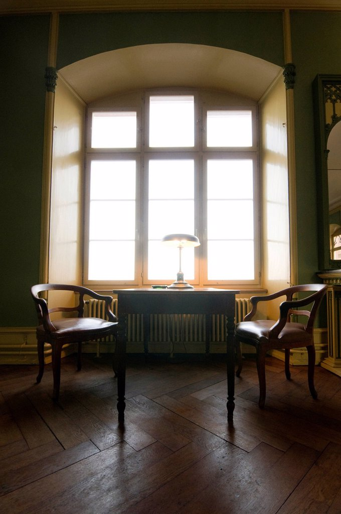 Biedermeier_style sitting area : Stock Photo