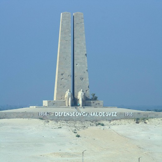 War memorial, Suez Canal, Egypt, Northern Africa, Africa : Stock Photo