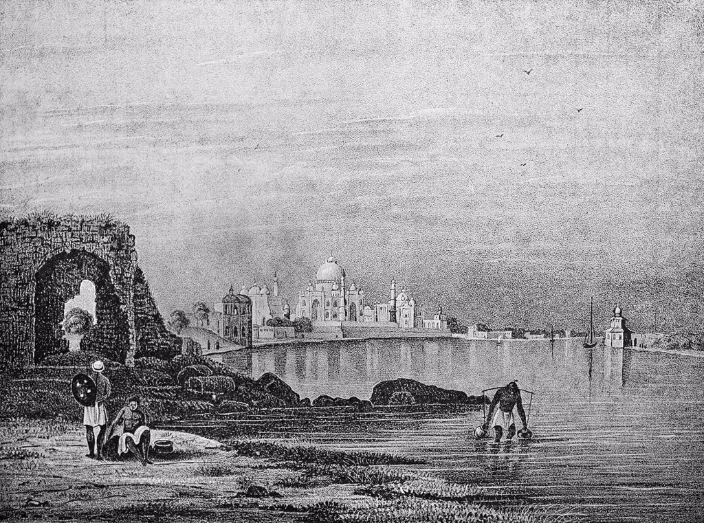 Stock Photo: 1848-632052 Historical illustration, lithography, Taj Mahal, India, Asia