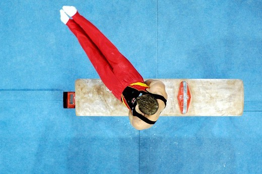 Thomas ANDERGASSEN GER at the Gymnastics World Cup in Stuttgart 2006 at pommel hors : Stock Photo
